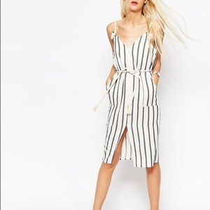 ASOS Striped Dress With Rope Details